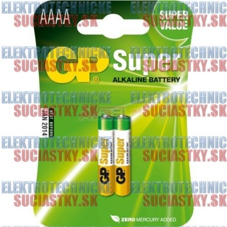 Bat.   1,5V   AAAA - Alkaline GP / 2ks Blister