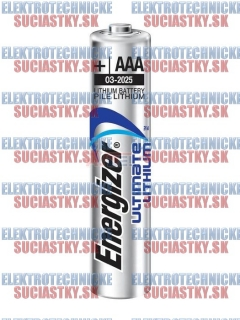 Bat.   1,5V  AAA - Lithium Energizer Ultimate 1ks